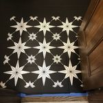 Cutting Edge Stencils, Our Star Tile Stencil is a geometric dream! This popular tile stencil design looks fabulous on accent walls, floors, fireplaces, and even kitchen backsplashes. All of your DIY decorating wishes will come true with this amazing tile stencil. Use stencil brushes for a multi-color look, or simply roll with a dense foam roller for a monochromatic effect. Get a Pinterest-worthy tile floor for a fraction of the price of real tile! Stencil Patterns, Stencil Designs, Painted Bathrooms, Color Trends 2018, Patchwork Tiles, Cutting Edge Stencils, Large Stencils, White Home Decor, Accent Walls