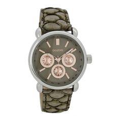 OOZOO Timepieces horloge Taupe C7138