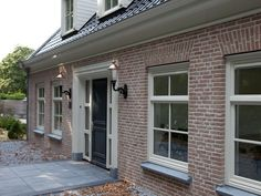 Home, House Exterior, Front Door Canopy, Home And Garden, House Entrance, Front Door, House, Grey Windows, Cottage