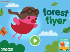 Sago Mini Forest Flyer (Sago Sago) app review by Katie Bircher at The Horn Book, July 7th, 2016