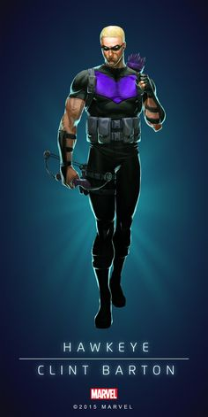 #Hawkeye #Fan #Art. (HAWKEYE - CLINT BARTON - MODERN IN: MARVEL'S PUZZLE QUEST!) BY: AMADEUS CHO! (THE * 5 * STÅR * ÅWARD * OF: * AW YEAH, IT'S MAJOR ÅWESOMENESS!!!™) [THANK U 4 PINNING!!!<·><]<©>ÅÅÅ+(OB4E)(IT'S THE MOST ADDICTING GAME ON THE PLANET, YOU HAVE BEEN WARNED!!!)