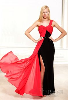 TERANI Couture for Evening DressesProm Dresses3172Exciting Style!