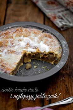 this apple tart looks delicious! Good Food, Yummy Food, Happy Kitchen, No Bake Pies, Polish Recipes, Other Recipes, Yummy Cakes, Sweet Tooth, Sweet Treats