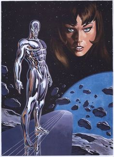 Silver Surfer & Shalla-Bal par Thomas FrisanoYou can find Silver surfer and more on our website. Marvel Comic Character, Marvel Comic Books, Marvel Art, Comic Book Heroes, Marvel Heroes, Marvel Characters, Comic Books Art, Comic Art, Captain Marvel