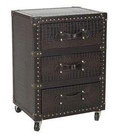 This Black & Brown Weber Rolling Chest is perfect! #zulilyfinds