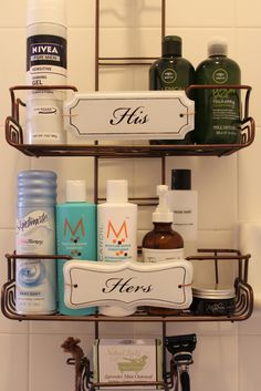 For the shower {nice idea!}