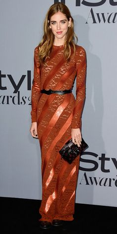 See the Stars on the 2015 InStyle Awards Red Carpet - Chiara Ferragni - from InStyle.com