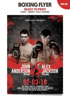 Free Boxing Flyer Template  HttpXtremeflyersComFreeBoxing