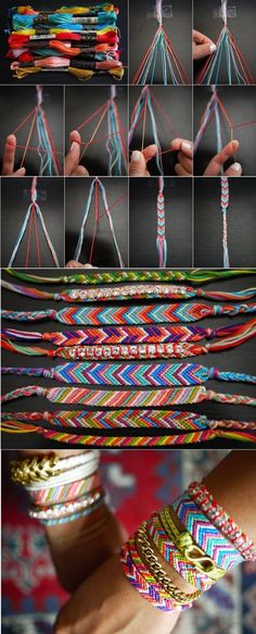 """Looking for a fun and easy craft to make? Try one of these 16 best and easy diy bracelet crafts. Most require only a few products, beads, wire, safety pins, ect. They are perfect to pass the time, sell, or give as gifts. [ """"16 Easy DIY Bracelet Tutorials diy craft crafts craft ideas easy crafts diy ideas diy crafts how to craft bracelet fashion crafts tutorials crafts for teens"""", """"Looking for a fun and easy craft to make? Try one of these 16 best and easy diy bracelet crafts. Most requ..."""