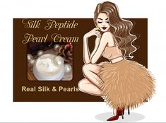 Silk and Pearls in a skin cream - WOW! This Posh Cream Is Fit For A Queen Or King! Slip into this silk and pearl hydrating veil and discover the power of real Silk Peptide and Pearl Powder today. Silk and Pearls - What more could a woman need? Willow Bark, Aloe Leaf, Pearl Cream, Queen, Organic Coconut Oil, Skin Cream, Jojoba Oil, Face And Body, Veil