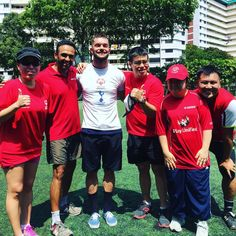 One of the absolute highlights of my Singapore trip was getting the opportunity to train with the @specialolympics Football team. @spursofficial ⚽️