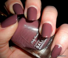 Sally Hansen Salon Manicure Plums The Word - really is a complete manicure in 1 coat.  Looks like base, 2-3 coats of color, and top coat, all in 1 easy application! Fabulous neutral color.