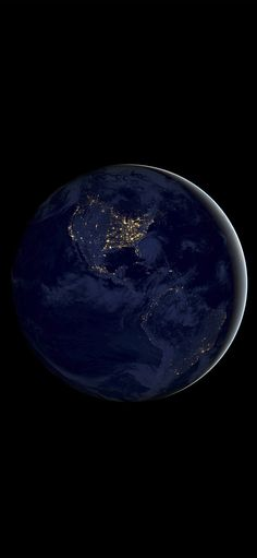 Earth space dark night iPhone X Wallpapers