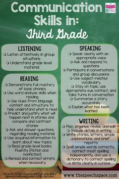 Grab this free checklist of communication skills for your third graders.