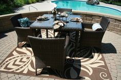 The Lantana Collection 5-Piece All Weather Wicker Patio Furniture Dining Set