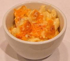 Simple recipe for macaroni and cheese. Photograph included.