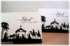 CCC13 - Silent night duo by ohmypaper! - Cards and Paper Crafts at Splitcoaststampers