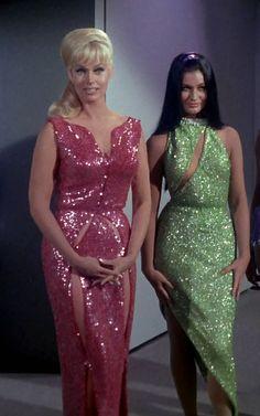 Eve McHuron (Karen Steele) & Ruth Bonaventure (Maggie Thrett) - Star Trek: The Original Series S01E06: Mudd's Women (First Broadcast: October 13, 1966)