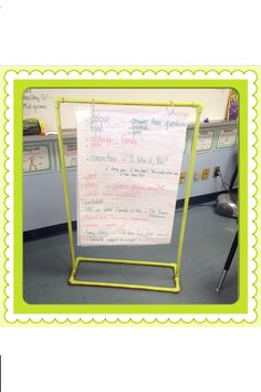 DIY Anchor Chart Stand