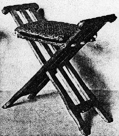 On making a 16th century German faldestoel.