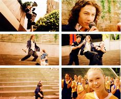 one of my favorite moments in 10 Things I Hate About You (Heath Ledger, Julia Stiles)