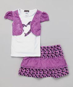 Dreamstar Orchid Heart Mock-Shrug Top & Skirt - Infant & Toddler by Dreamstar #zulily #zulilyfinds