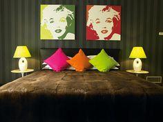 Interiores con toques de color
