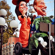 Kate Middleton on Segway during the carnival of Nice