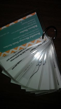 Labor Information Keychain Cards - Make something like this for me!