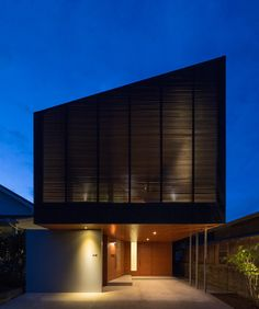 Modern two-storey private residence designed in 2012 by Sakai Architecture Design Office