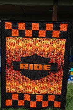 Harley Davidson Inspired Quilt!