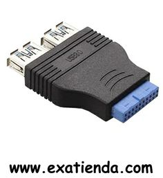 """Ya disponible Adaptador USB interno a 2 USB 3.0    (por sólo 15.95 € IVA incluído):   - Adaptador USB 3.0 de conexión directa a placa base. Convierte la conexión a 2 puertos USB 3.0 corrientes de tipo A hembra, perfecto para los conectores frontales de cajas ATX.  - Interfaz: USB 3.0 - Conector USB 3.0 """"A"""" hembra: 2 - Ancho de banda:5 Gbps Garantía de fabricante  http://www.exabyteinformatica.com/tienda/717-adaptador-usb-interno-a-2-usb-3-0 #internos #exabyteinformatic"""