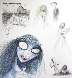 Tim Burton's Corpse Bride illustration.