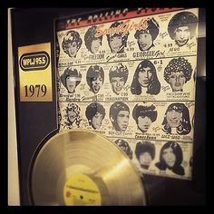 RT @StevenLacy 'Some Girls' Gold Record at 95.5 WPLJ Studios in #NYC.
