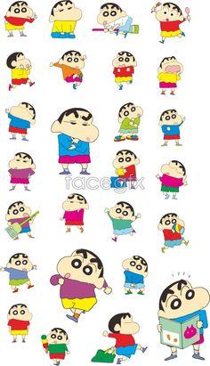 Crayon Shinchan new vector