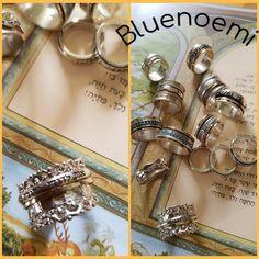 Bluenoemi Israeli Jewelry Rings Necklaces Earrings by Bluenoemi Sterling Silver Rings, Gold Rings, Jewelry Rings, Unique Jewelry, Jewellery, Israeli Jewelry, Ring Necklace, Earrings, Meditation Rings
