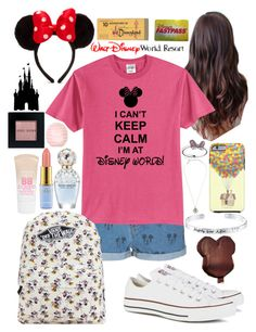 """""""Vacationing at Disney world!"""" by chloe12801 ❤ liked on Polyvore featuring Disney, Bobbi Brown Cosmetics, ElevenParis, Converse, Maybelline, Marc Jacobs, Vans, Topshop, pretty and fun"""