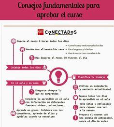 #Infografia: consejos para aprobar el curso #TuitOrienta #Orientación en mi tablero de @Pinterest Vía @SMconecta2