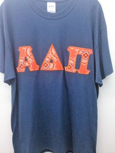Alpha Delta Pi Sorority Large T Shirt with Greek Letters -- Ready to Ship! by GoneGreek on Etsy