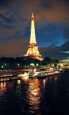 Night on the Seine, Paris