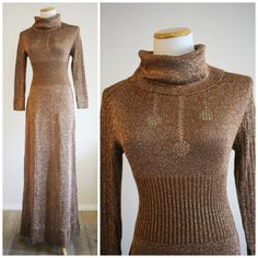 Vintage 60's 70's Turtle Cowl Neck COPPER by RedHatVintage on Etsy