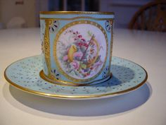 Sevres Coffee Can / Cabinet Cup and Saucer