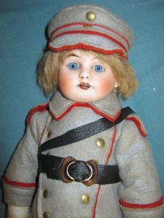 Fabulous antique bisque doll soldier Armand  Marseille - Imperial  Germany