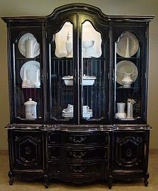 great hutch~SO PRETTY PAINTED BLACK~ MY DAUGHTER DANI  BOUGHT ONE LIKE THIS ONLY PAINTED WHITE ~ GORGEOUS ~
