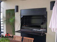 Puertas Rebatibles Para Parrillas Parrilla Exterior, Built In Braai, Barbacoa, Bbq, Music Instruments, Basement Finishing, Garden Ideas, Oven, Bar Grill