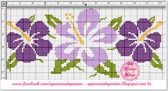 Adoro essas flores Hibicus, acho simplesmente lindas!   Fiz esses gráficos e venho compartilhar com vocês...