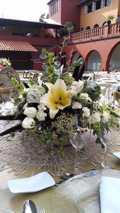 Diseño floral boul de espejo