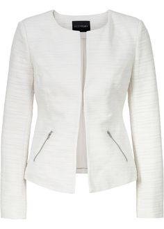 £: 2016/17 Blazer in tessuto strutturato Bianco panna - BODYFLIRT è ordinabile nello shop on-line di bonprix.it da ? 19,99. Blazer estivo della BODYFLIRT, con tasche ...