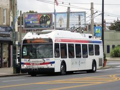 SEPTA New Flyer trackless trolley at New Flyer, Busse, Cars Motorcycles, Cool Cars, Philadelphia, Past, Vehicles, Past Tense