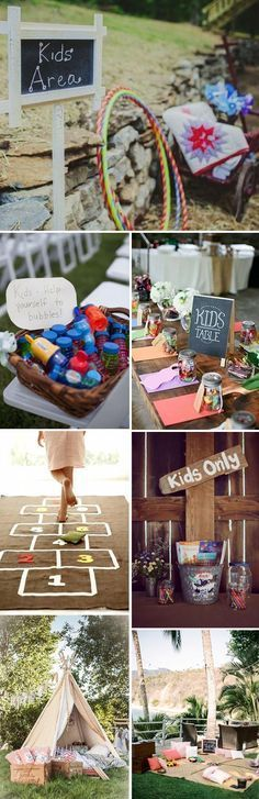 set up a kids's area to keep your smallest guests entertained wedding with kids Intimate Wedding Ideas: Five Essential Elements That Bring Your Guests Together Kids Table Wedding, Wedding Reception Activities, Wedding With Kids, Fall Wedding, Diy Wedding, Dream Wedding, Trendy Wedding, Rustic Wedding, Wedding Photos